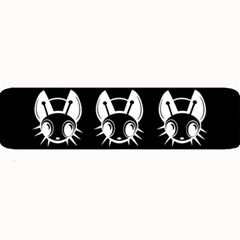 White and black fireflies  Large Bar Mats