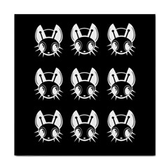 White and black fireflies  Face Towel