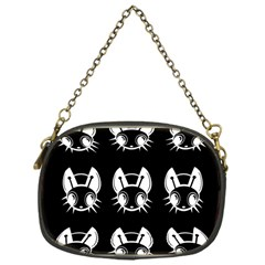 White and black fireflies  Chain Purses (One Side)