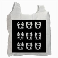 White and black fireflies  Recycle Bag (One Side)