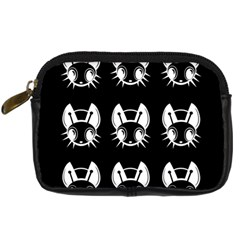 White and black fireflies  Digital Camera Cases