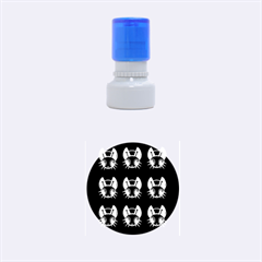 White and black fireflies  Rubber Round Stamps (Small)