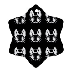 White and black fireflies  Snowflake Ornament (2-Side)