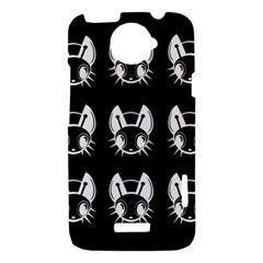 White and black fireflies  HTC One X Hardshell Case