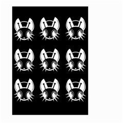 White and black fireflies  Large Garden Flag (Two Sides)