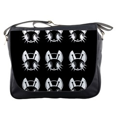 White and black fireflies  Messenger Bags
