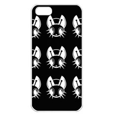White and black fireflies  Apple iPhone 5 Seamless Case (White)