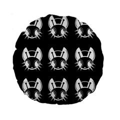 White and black fireflies  Standard 15  Premium Round Cushions