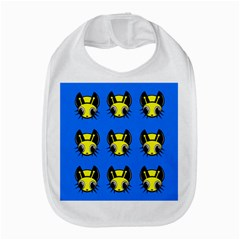 Yellow And Blue Firefies Bib