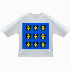 Yellow and blue firefies Infant/Toddler T-Shirts