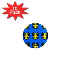 Yellow and blue firefies 1  Mini Magnet (10 pack)
