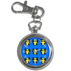 Yellow and blue firefies Key Chain Watches