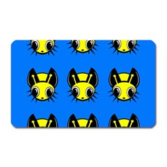 Yellow and blue firefies Magnet (Rectangular)