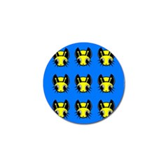 Yellow and blue firefies Golf Ball Marker (10 pack)