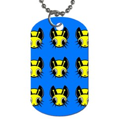 Yellow and blue firefies Dog Tag (Two Sides)