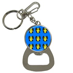 Yellow and blue firefies Bottle Opener Key Chains