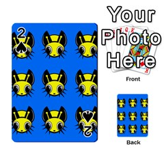 Yellow and blue firefies Playing Cards 54 Designs