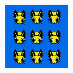 Yellow and blue firefies Medium Glasses Cloth