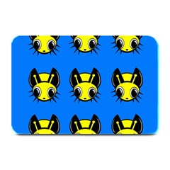 Yellow and blue firefies Plate Mats