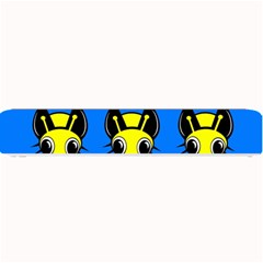 Yellow and blue firefies Small Bar Mats