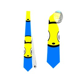 Yellow and blue firefies Neckties (One Side)