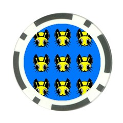 Yellow and blue firefies Poker Chip Card Guards