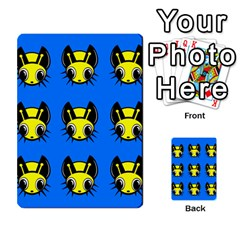 Yellow and blue firefies Multi-purpose Cards (Rectangle)
