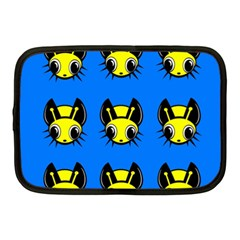 Yellow and blue firefies Netbook Case (Medium)
