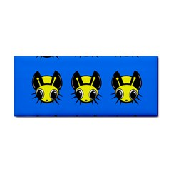 Yellow and blue firefies Hand Towel