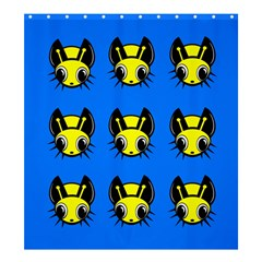 Yellow and blue firefies Shower Curtain 66  x 72  (Large)