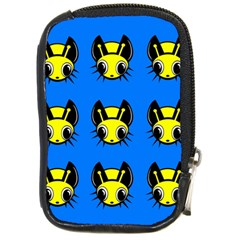 Yellow and blue firefies Compact Camera Cases