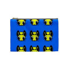 Yellow and blue firefies Cosmetic Bag (Medium)