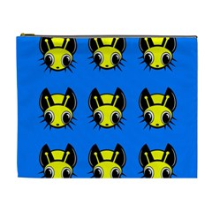 Yellow and blue firefies Cosmetic Bag (XL)