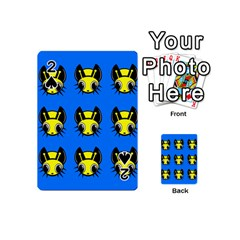 Yellow and blue firefies Playing Cards 54 (Mini)