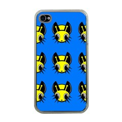 Yellow and blue firefies Apple iPhone 4 Case (Clear)