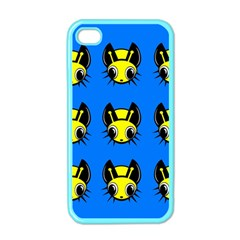 Yellow and blue firefies Apple iPhone 4 Case (Color)