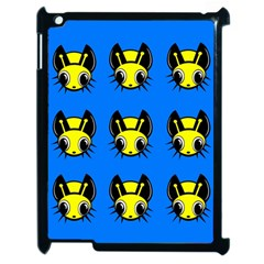 Yellow and blue firefies Apple iPad 2 Case (Black)