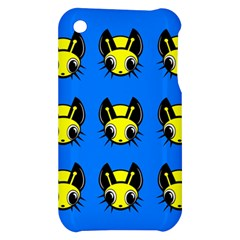 Yellow and blue firefies Apple iPhone 3G/3GS Hardshell Case