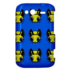 Yellow and blue firefies HTC Wildfire S A510e Hardshell Case
