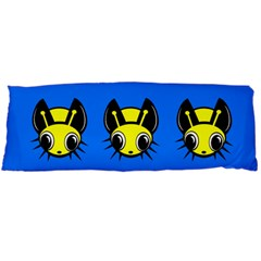 Yellow and blue firefies Body Pillow Case Dakimakura (Two Sides)