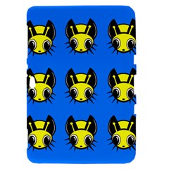 Yellow and blue firefies Samsung Galaxy Tab 8.9  P7300 Hardshell Case