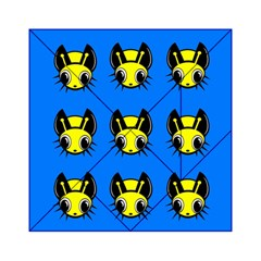 Yellow and blue firefies Acrylic Tangram Puzzle (6  x 6 )