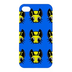 Yellow and blue firefies Apple iPhone 4/4S Premium Hardshell Case