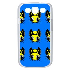 Yellow and blue firefies Samsung Galaxy S III Case (White)