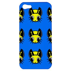 Yellow and blue firefies Apple iPhone 5 Hardshell Case