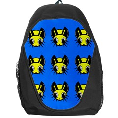 Yellow and blue firefies Backpack Bag