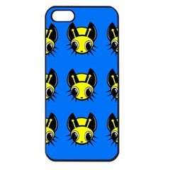 Yellow and blue firefies Apple iPhone 5 Seamless Case (Black)