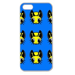 Yellow and blue firefies Apple Seamless iPhone 5 Case (Clear)