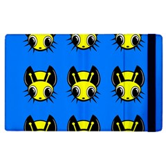 Yellow and blue firefies Apple iPad 3/4 Flip Case