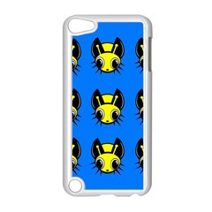 Yellow and blue firefies Apple iPod Touch 5 Case (White)